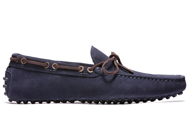 Blue Driving Moccasins in Suede Leather - El Nòbil - Velasca - Men's Fashion