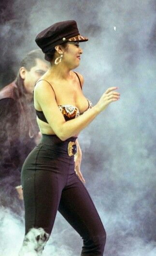 Selena Quintanilla at the Houston Livestock And Rodeo Show in the Houston Astrodome in 1993