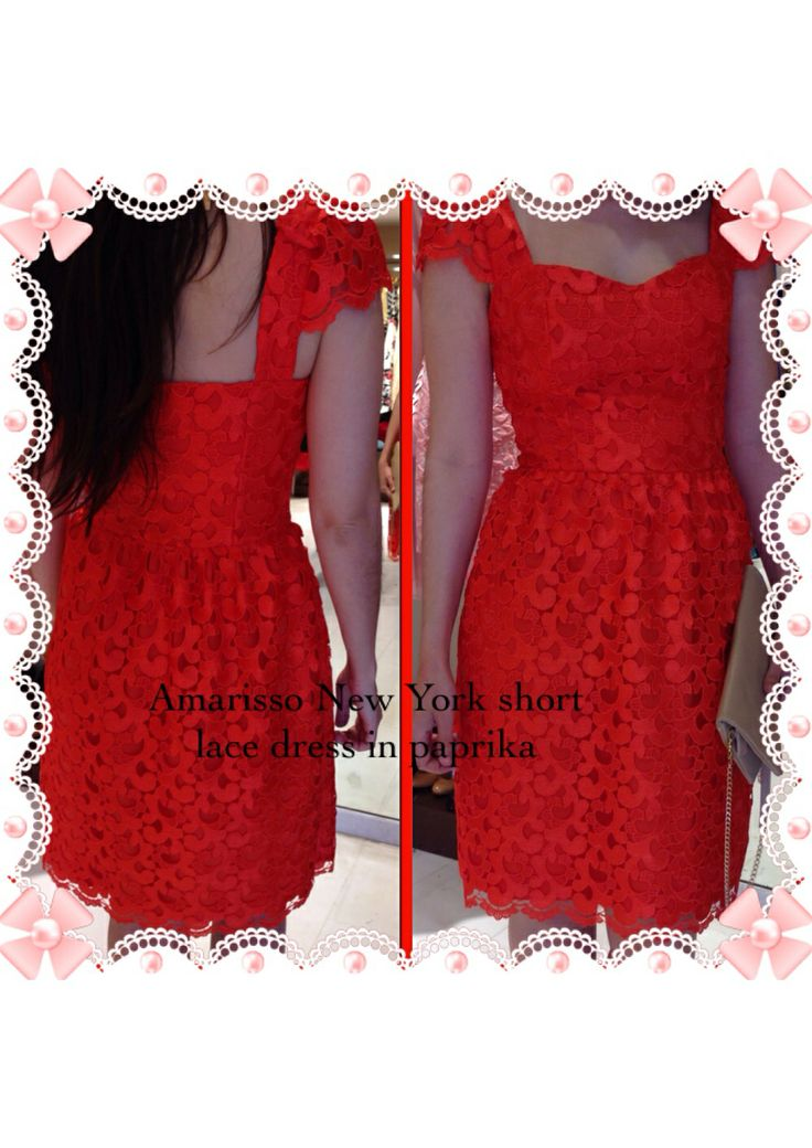 Amarisso New York cocktail lace dress in paprika.