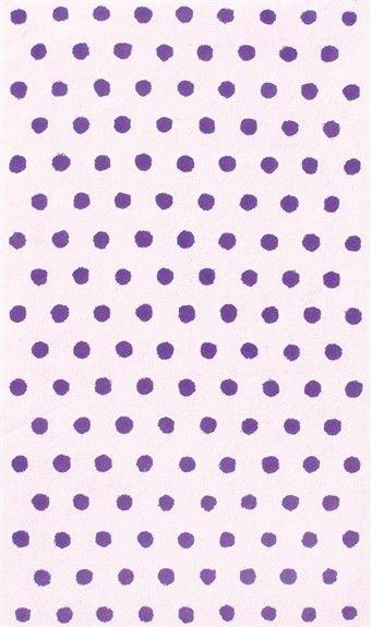 fufu dots purple rug
