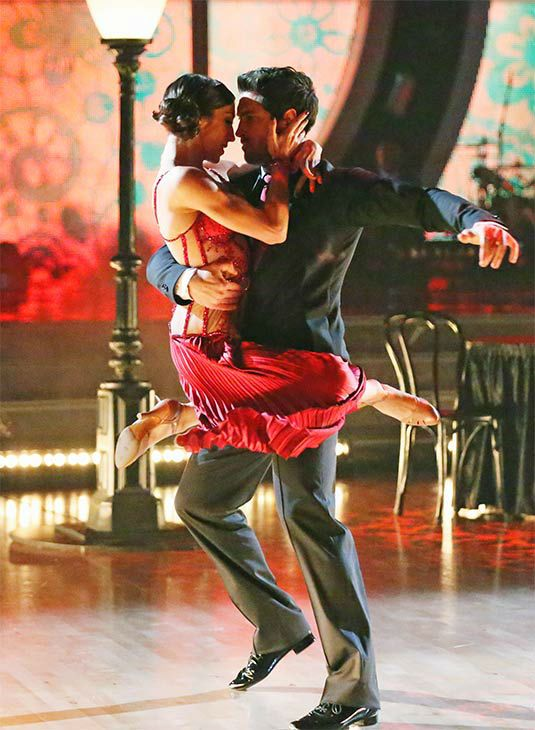 "Maks Chmerkovskiy & Meryl Davis danced an Argentine tango (Judges Pic) to  ""Montserrat"" by Bajofondo -  season 18 finale  -  Dancing With the Stars  -  week 10  -  spring 2014"