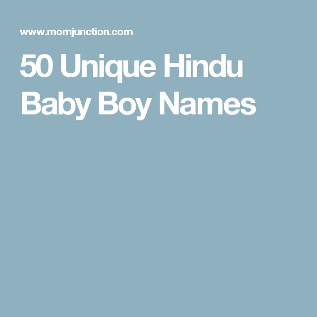 50 Unique Hindu Baby Boy Names