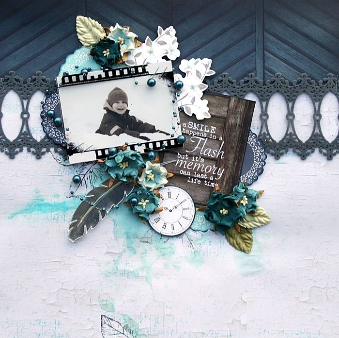 DT project by Maja Stokk using the Swirlydoos Kit, Artful Blue (Feb 2015). swirlydoos.com