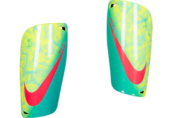 Nike Mercurial Lite Shin Guards - Volt with Retro...at SoccerPro now!
