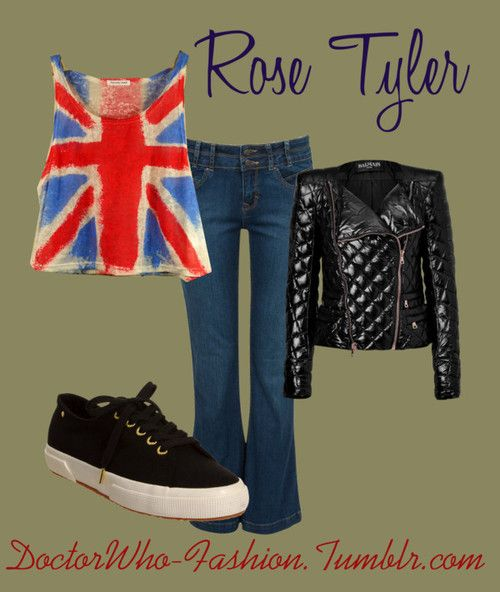 Rose Tyler by doctor-who-fashion featuring retro...