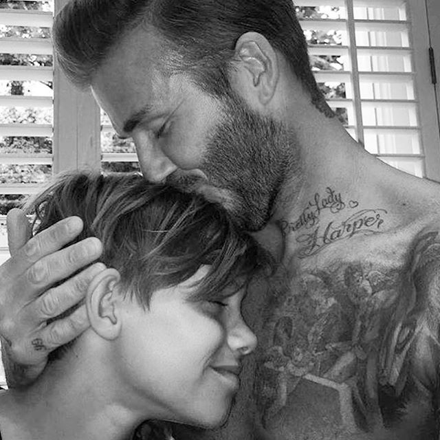 Oh Beck's, Stop! We already adore you! #uberdads #dadsofinstagram #fathersday2015 #uberkateloves @davidbeckham #hotdads
