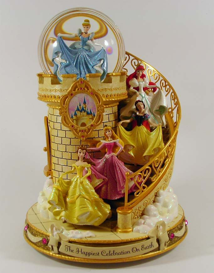Disney princess snow globe.