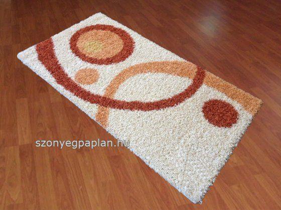 Shaggy karikás terra szőnyeg 200x280 cm