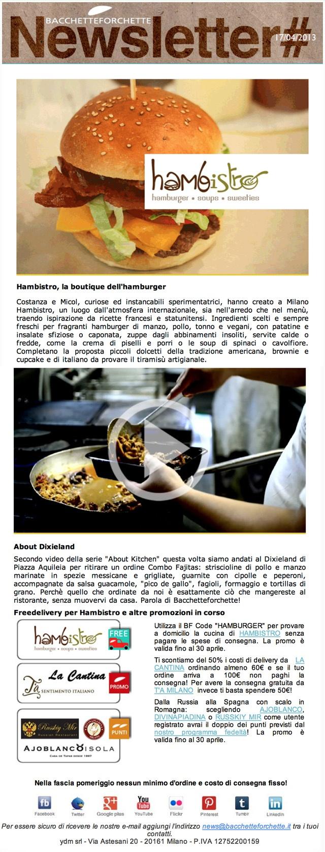 Newsletter Bacchetteforchette 17/4/2013