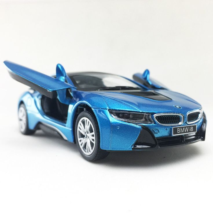 nice Awesome BMW i8 Plug-In Hybrid Sports Car Kinsmart 1:36 DieCast Model Car Collectible Toy 2018-2019