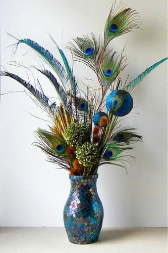 Peacock arrangement