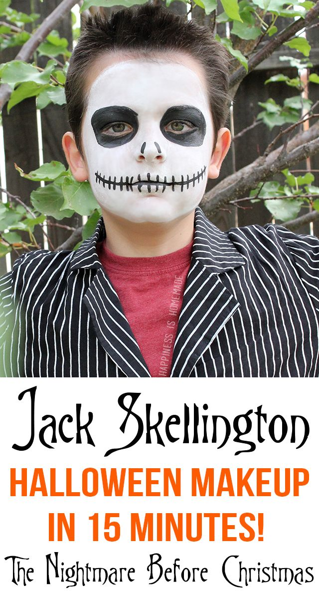 Jack Skellington Halloween Makeup in Only 15 Minutes! #TulipBodyArt