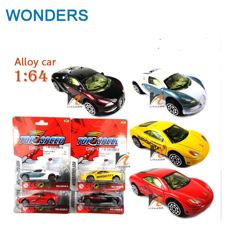 Classique jouets! voiture de sport 1: 64 alliage modèle de voiture de jouet, Coulissante voiture aléatoire mixte pour Bébé Halloween Chirstmas D'anniversaire Cadeau