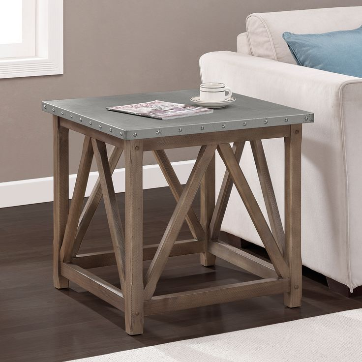 Zinc Top Bridge End Table By I Love Living Sofa End Tables Great Deals And Shopping