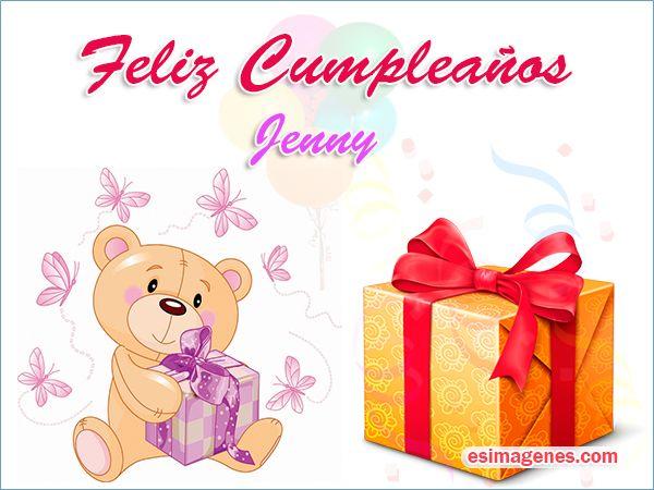 Feliz cumpleaños Jenny - Imágenes Tarjetas Postales con Nombres | Feliz Cumpleaños