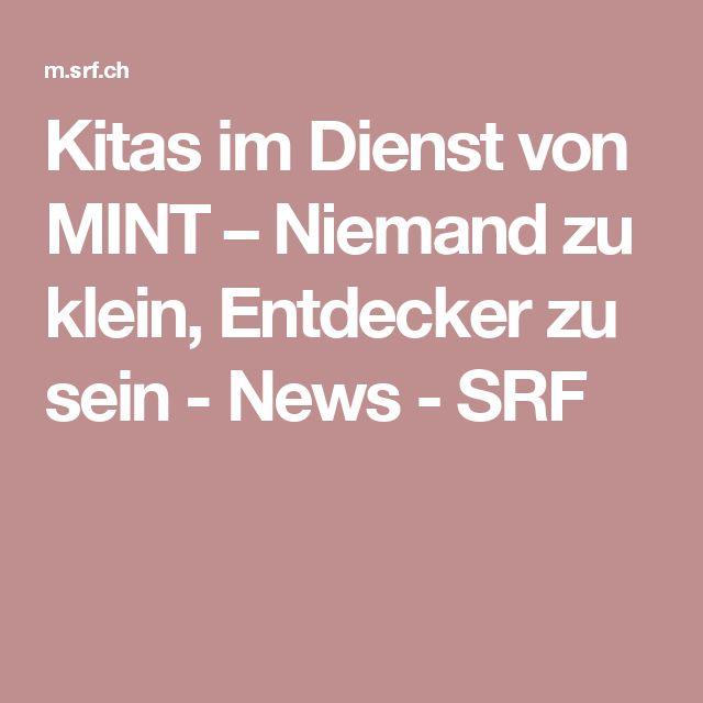 Kitas im Dienst von MINT – Niemand zu klein, Entdecker zu sein - News - SRF