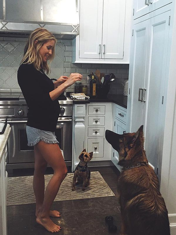 "Although the reality star turned fashion designer has joked about living with a brood of boys — ""Because 2 boys under the age of 3 weren't enough,"" she wrote on Instagram in March after adding the German Shepherd to the family — she'll soon be seeing plenty of pink.  Earlier this month, Cavallari and her husband Jay Cutler announced the sibling they're expecting for sons Jaxon Wyatt, 14 months, and Camden Jack, 3 next month, is a baby sister."
