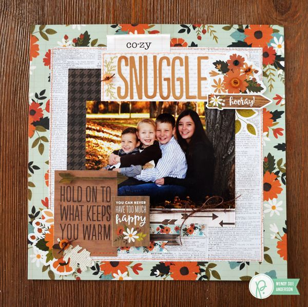 Warm & Cozy layout by @wendysue featuring the #warmandcozy collection by @pebblesinc