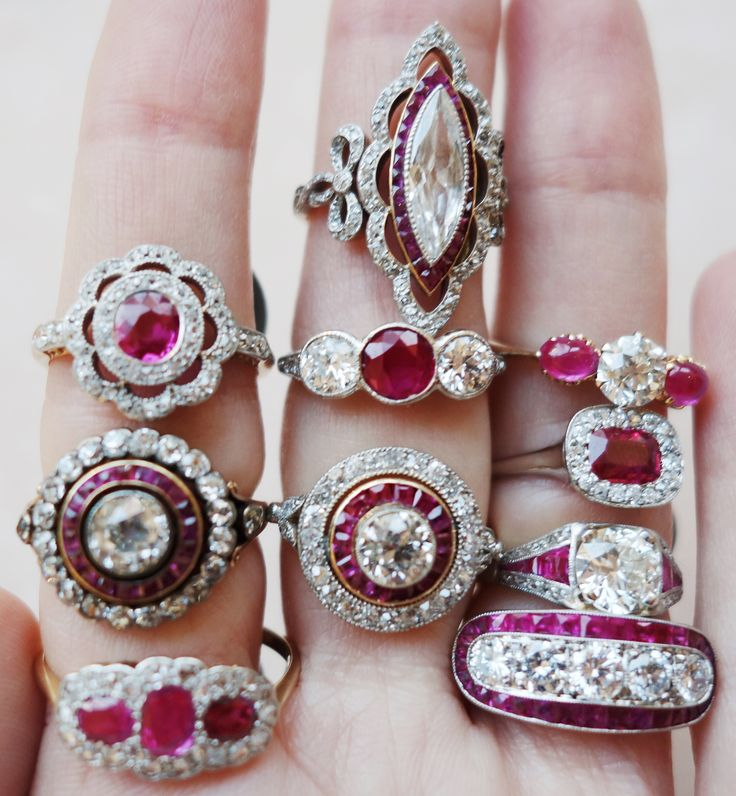 engagement deco antique ring art rings ruby