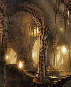 elvenking's halls   whoah, something from the hobbit that actually looks authentic like lotr! era sets?? It's a miracle :D