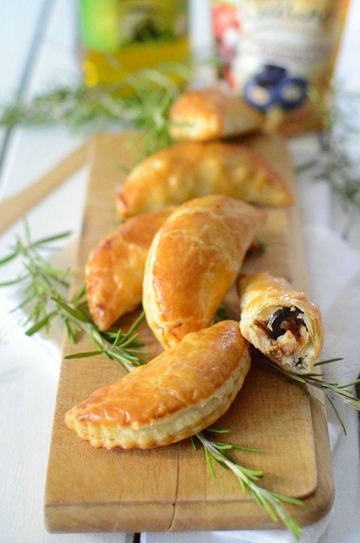 Chaussons au poulet et aux olives noires  #recette #apéro #apéritif #olives #noires #poulet