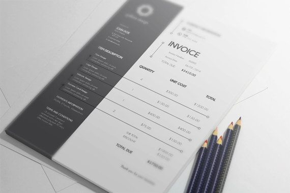 INVOICE TEMPLATE    Make this invoice template part of your business life and show how professional your business is!.