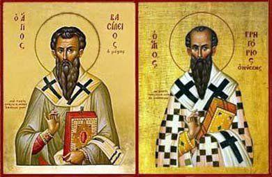 02-01 Santos Basilio Magno y Gregorio Nacianceno, obispos y doctores de la Iglesia