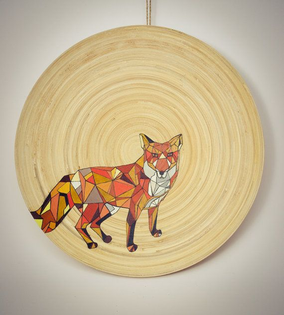 """One day, Mr. By The Way Fox, decided to spend the rest of his life on a bamboo plate. It was a hard place to settle down but he said to himself: """"Never mind""""."""