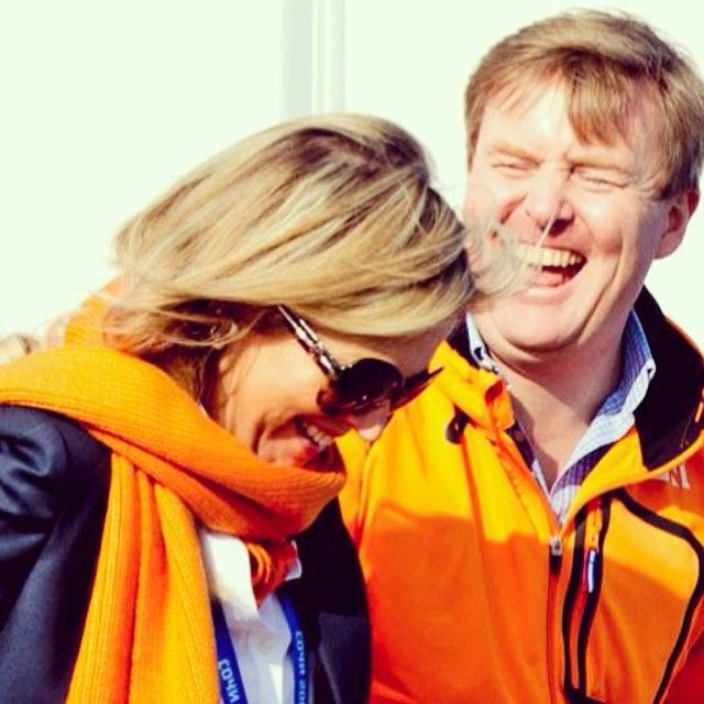 8 februari 2014 Sotsji  King Willem-Alexander and Queen Maxima of the Netherlands visited  the Olympic Village in Sochi