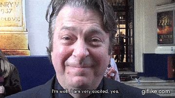 Red carpet chat with Roger Allam at the 2011 Olivier Awards. You're excited to meet me too? I am too, Roger!