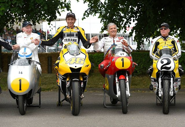 Legends of motorcycle racing at the Goodwood Festival of Speed 2015!