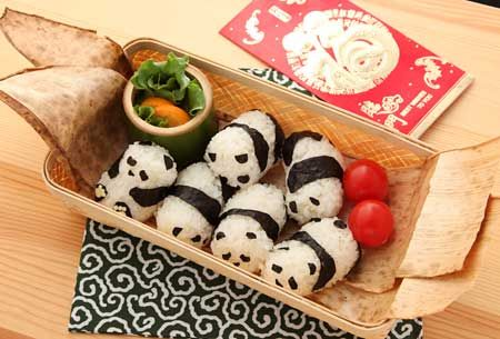 Panda Rice Rolls. Really cute!
