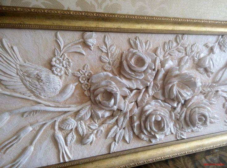 Plaster Art Using Cake Decorating Tips