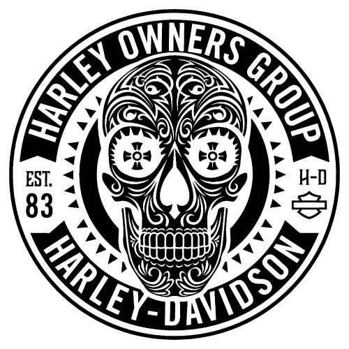 Harley-Davidson Own Group Est. 83 motorcycle sticker