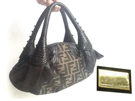 Rare Vintage Authentic FENDI Genuine Leather by VintageVanillaShop