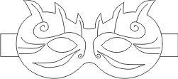 maschera di carnevale da colorare