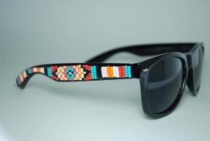 beaded sunglasses by brownbeadednet on Etsy