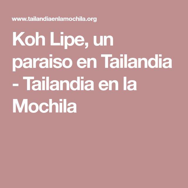 Koh Lipe, un paraiso en Tailandia - Tailandia en la Mochila