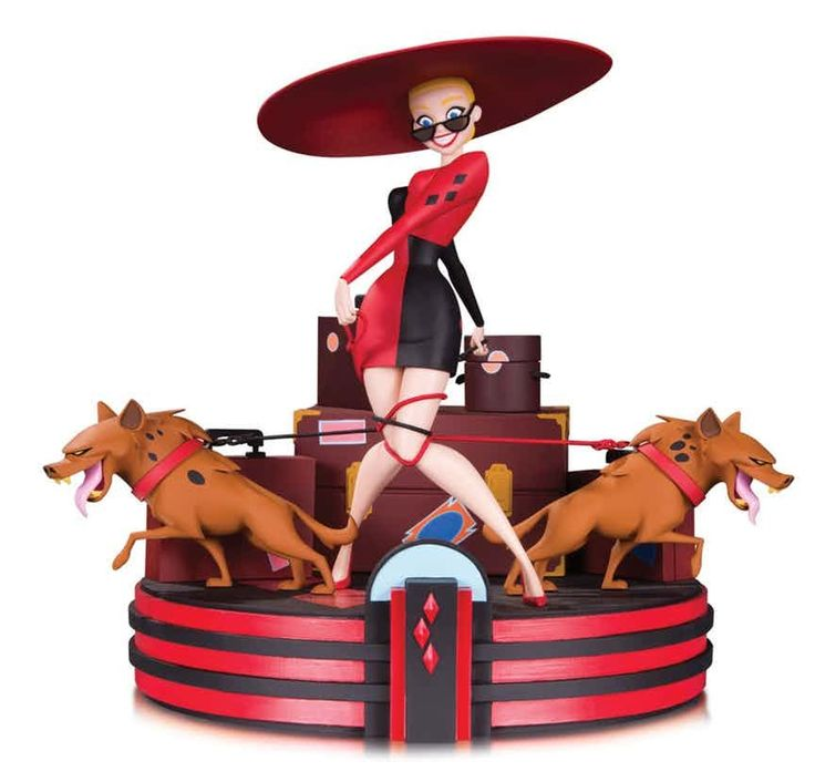 """ BATMAN ANIMATED: HARLEY'S HOLIDAY STATUE  Sculpted by IRENE MATAR  Inspired by the title card from the classic BATMAN: THE ANIMATED SERIES episode ""Harley's Holiday,"" this amazingly detailed statue captures Harley as she's about to hit the town after..."