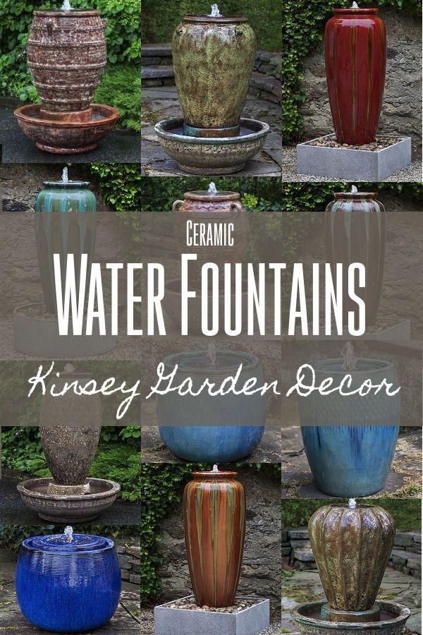 Kinsey Garden Decor Ceramic Outdoor Water Fountains 640 x 480
