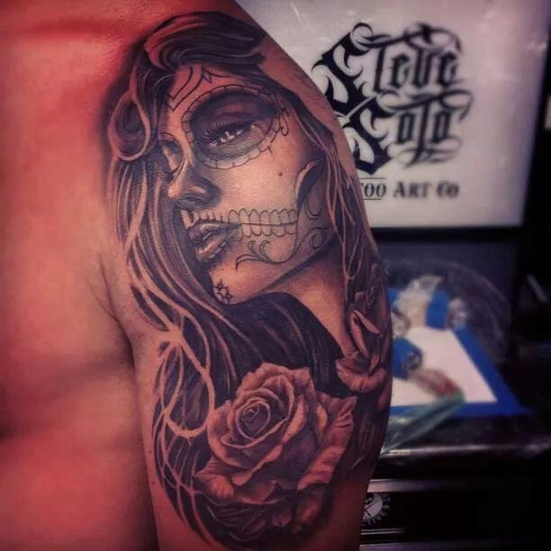 20 best mexican girl tattoos images on pinterest female for Mexican girl tattoos
