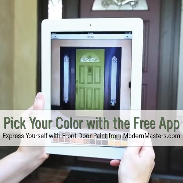 Pick the perfect front door color using a pic of your own door with the  free Front Door Paint App by Modern Masters
