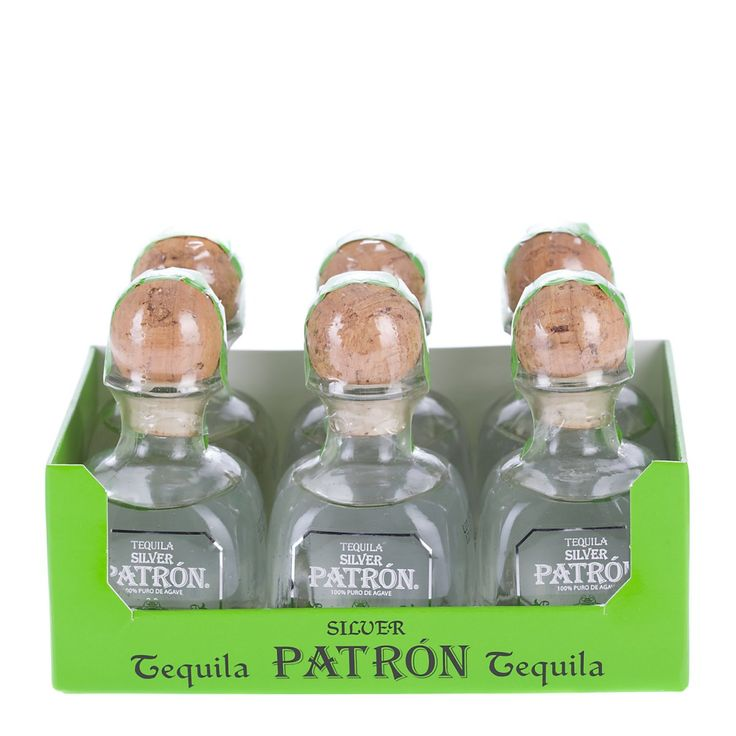 Patron Silver Tequila Miniature 5cl - 6 Pack   Just Miniatures