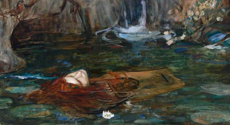 thorsteinulf:  John William Waterhouse - Study for 'Nymphs Finding the Head of Orpheus'