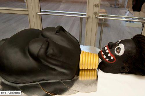 "Black Face, Racial Caricature, and Cake: Raising Awareness about ""Female Genital Mutilation""? (click thru for analysis)Cake, Artists Scream, Genital Mutilation, Performing Artists, Black Face, Red Velvet, Swedish Minister, Art Installations, Artists Head"