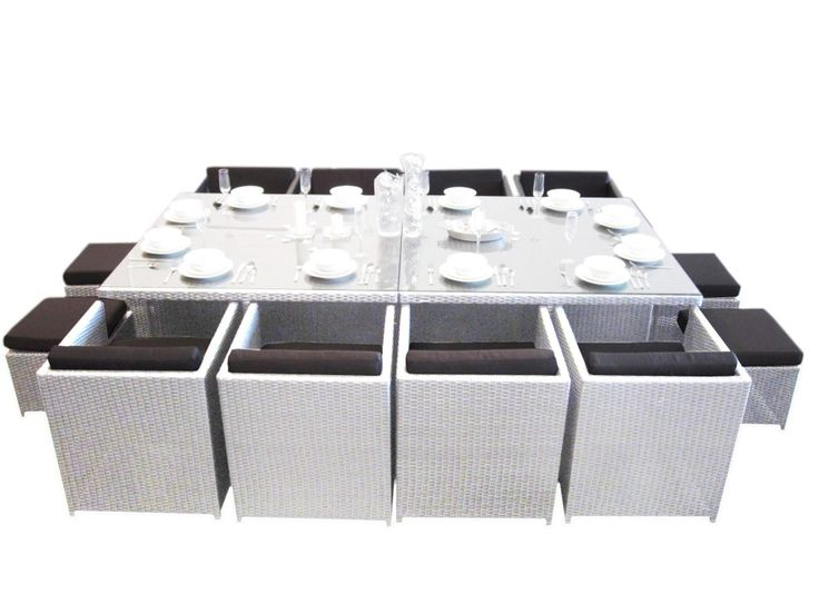 White Empire 12 Seat Dining Set. Only for Perth! We are located at Wangara, WA.