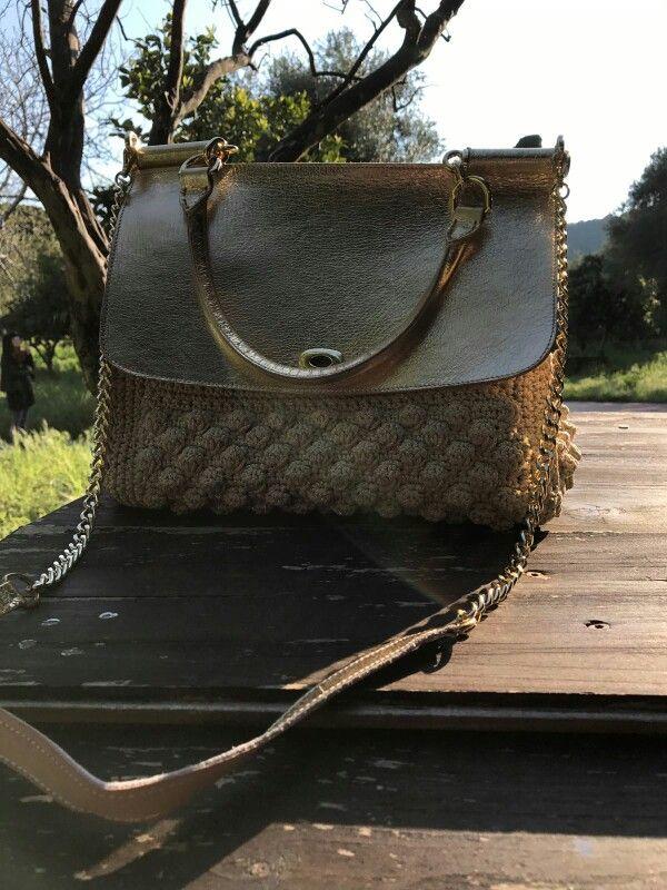 Miss Sicily vera pelle e crochet con cordino lurex  #crochet #handmade #leatherbag#crochet bag#misssicily  Per info kgkboutique@gmail.com