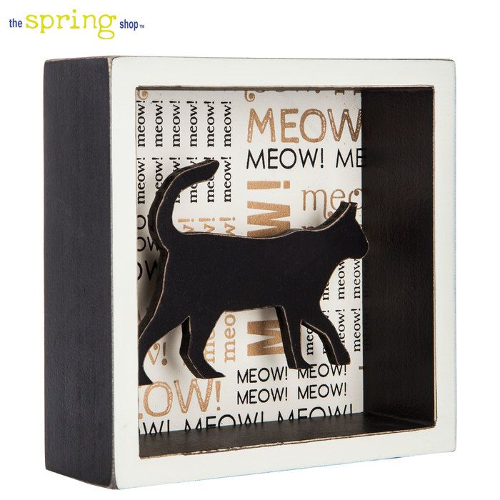 Cat Shadow Box Wall Decor With Images Cat Shadow Shadow Box Wall Decor