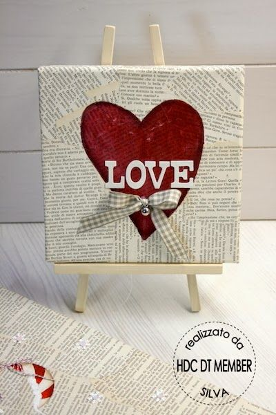 Hobby di Carta - Il blog: HOME DECOR: tele da regalare by Silva