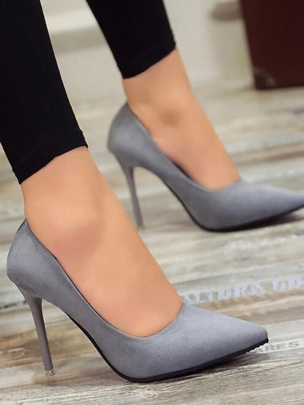 New Blue Point Toe Stiletto Fashion High-Heeled Shoes